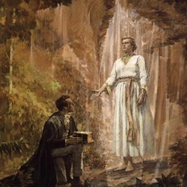Joseph Smith receives the gold plates.